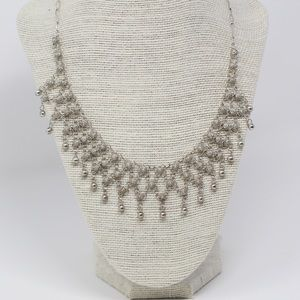 Jewelry - VTG ETRUSCAN 925 Bead Fringe Collar Necklace 17.5""